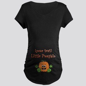 [Personalize] Little Pumpkin Maternity Dark T-Shir